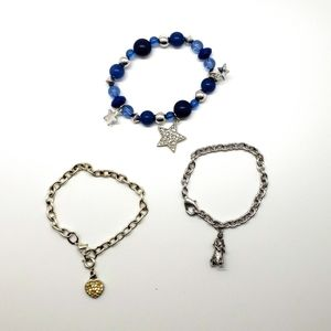 Set of three Charm Bracelets for Little Girls